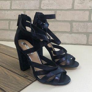 Miss KG Heels Blue Sparkle Sandal Heels Size 8